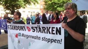 Siemens Demo fuer Erhalt der Arbeitsplaetze 09-06-2015