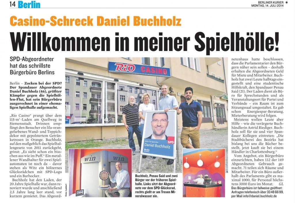 Spielhalle Artikel Berliner Kurier 14-07-2014
