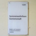 Seniorenwohnhaus Rohrdamm 56 Schild