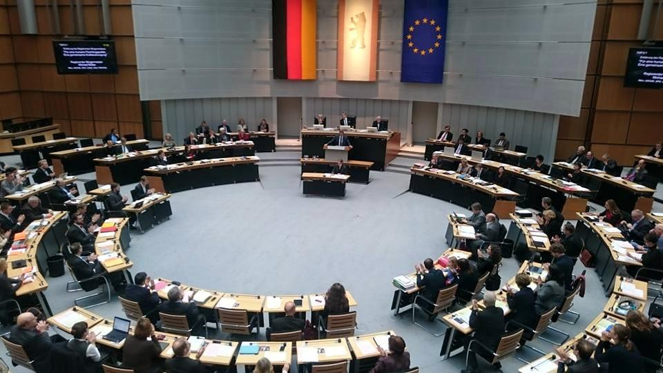 Abgeordnetenhaus Plenarsaal RBM-Rede 11-2015