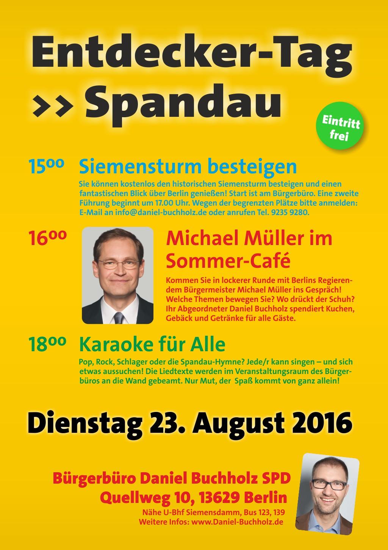 Plakat Mueller in Spandau 08-2016 | Daniel Buchholz SPD