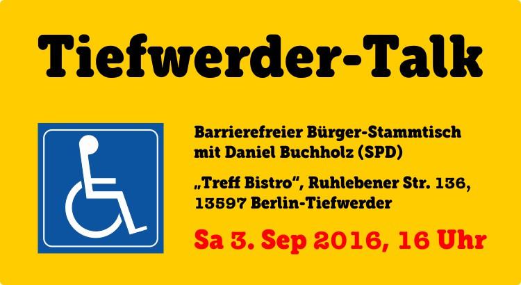 Tiefwerder-Talk barrierefrei