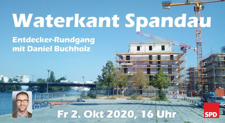 Entdecker-Rundgang Wasserstadt Spandau zu Neubauten und Verkehr am 2.10.20 mit Daniel Buchholz, MdA 1